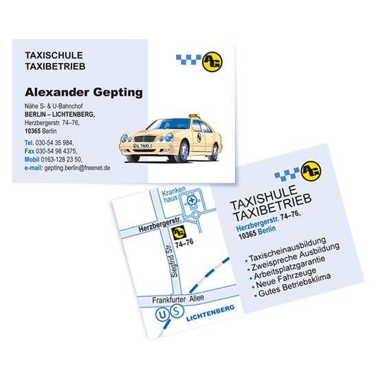Olaf Kostbar Visitenkarten Taxischule Ag